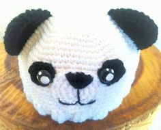 Crochet baby's panda hat (featured on Etsy)