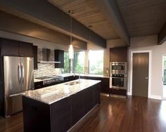 Wood Floor Kitchen Dark Cabinets Design, Pictures, Remodel, Decor and Ideas - page 20