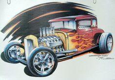 1932 Five Window Coupe Hot Rod Premium by firelandsteeshirts, $14.99