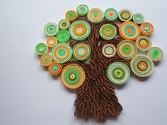 Wall decoration Tree wall hanging Quilled tree wall art. $30.00, via Etsy.