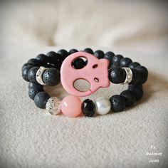 Conjunto Pink skull. https://www.facebook.com/esraconet.joies