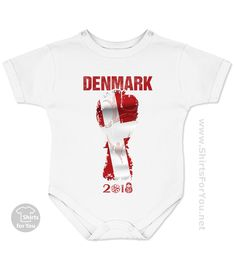 504e45678 FIFA World Cup 2018 · Denmark Football Fan Baby Onesie