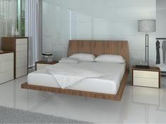 Efficient and Modern Floor Bed Frame: Perfect Floor Bed Frame With Cool Bedside Table And Modern Floor Lamps Along With Muslin Curtain And Allured Modern Vase ~ sagatic.com Bedroom Design Inspiration