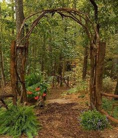 This award winning outdoor space was created by recycling fallen trees, recycled. This award winning outdoor space was created by recycling fallen trees, recycled concrete well cove