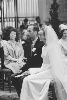 1966 - The religious marriage of the German prince Karl von Hessen and the Austrian-Hungarian countess Yvonne Szapary in the Great or St. Ja...