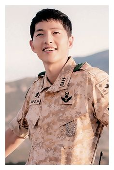 Descendants of the Sun cast - Song Joong Ki as Captain Yoo Shi Jin of the Special Forces unit. Song Hye Kyo as Dr. Drama Korea, Korean Drama, Descendants, Asian Actors, Korean Actors, Song Joong Ki Dots, Soon Joong Ki, Decendants Of The Sun, F4 Boys Over Flowers