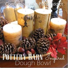 Thankful at Home...Pottery Barn Inspired Dough Bowl - CONFESSIONS OF A PLATE ADDICT