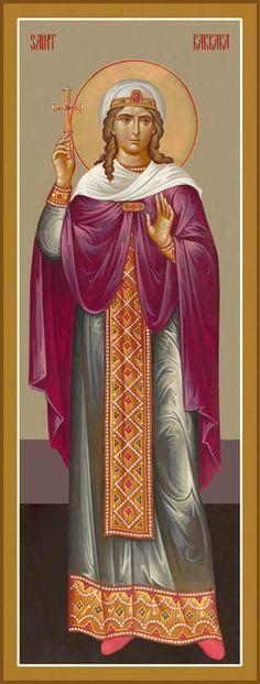 St Barbara of Heliopol - Great Martyr Religious Images, Religious Icons, Religious Art, Byzantine Icons, Byzantine Art, Saint Barbara, Saints, Russian Icons, Orthodox Icons