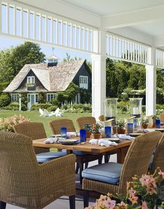outdoor dining / entertaining- beach house - patio - porch - backyard - house - home - summer