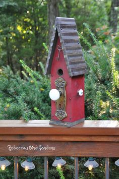 "Rustic Birdhouse ~ ""The Loft"" by RebeccasBirdGardens on Etsy https://www.etsy.com/listing/244821048/rustic-birdhouse-the-loft"