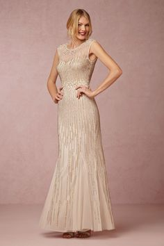 Emeline Dress from @BHLDNThis is beaded and gold and gorgeous (available in a 2 and 4 and 6) still $250 but down from $495