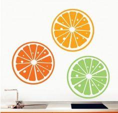 Vinilo naranjas - tropical orange - Cocina