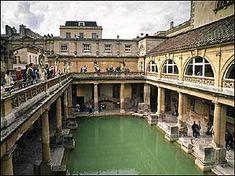 The Roman Baths - - Bath, England