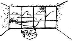le corbusier, sketch from  la maison des hommes, 1942