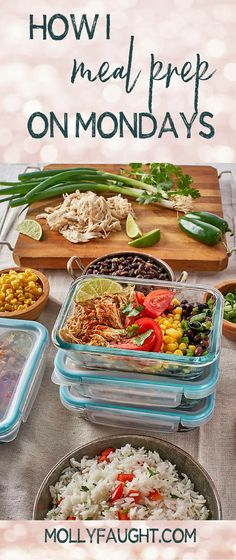 How I Meal Prep on Mondays #mealprep #mealprepping #mondaymealprep Best Meal Prep, Meal Prep For The Week, Healthy Meal Prep, Eat Healthy, College Food Hacks, College Meals, Healthy Eating Habits, Clean Eating Recipes, Chipotle
