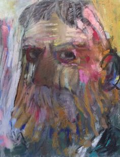 """SP as a 19th Century Man. 2015. Pastel with Some Oil, Charcoal and Graphite. 13.75"""" x 11."""" Casey Klahn."""