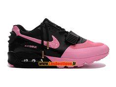 Nike Air Yeezy 2 X Max 90 Premium - Chaussure Nike LifeStyle Pas Cher Pour Homme Noir/Explosion rose/Rose arctique 508214-212