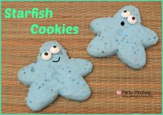 No bake starfish cookie tutorial using Little Debbie cookies