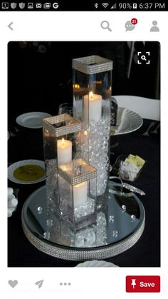 Crystal Bloom provides crystal candle arrangement centerpiece rentals to the Cleveland, Ohio and surrounding areas for weddings and special events. Centerpiece Rentals, Centerpiece Decorations, Bling Centerpiece, Bling Wedding Centerpieces, Banquet Centerpieces, Table Decorations For Parties, Christmas Centerpieces, Engagement Party Centerpieces, Dollar Store Centerpiece
