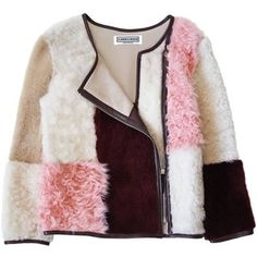 cool Florence Bridge - Antonia Patchwork Shearling Biker Jacket ILS) ❤ liked. Cl Fashion, London Fashion, Autumn Fashion, Fashion Design, Shearling Jacket, Fur Jacket, Moto Jacket, Motorcycle Jacket, Florence Bridge
