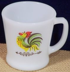 vintage anchor fireking rooster cups - another cup I gotta have