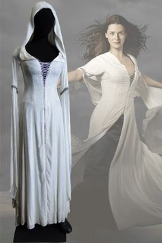 We love this authentic Legend of the Seeker Kahlan Amnell Confessor Dress!