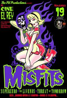 Misfits Concert Poster Art - Obsessed With Skulls