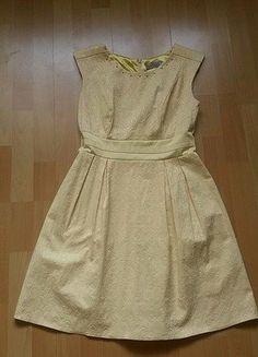 Kup mój przedmiot na #vintedpl http://www.vinted.pl/damska-odziez/krotkie-sukienki/17131809-zolta-sukienka-w-tloczone-wzory