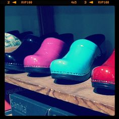 Professional Patent clog (colors: Black, Fuchsia, Turquoise, Red) #sanita #clogs #shoes