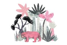 Jungle Bear // A6 blank greeting card by essillustration on Etsy, £2.50