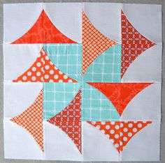 """Curve it up"" Curvy Geese ~ Block #6 by Sew Kind of Wonderful, via Flickr"