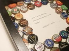Beer Cap Picture Frame! Great idea for a father's gift.