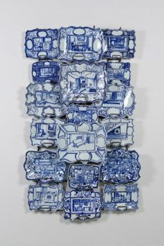 Ann Agee, Gross Domestic Product, 2010. Courtesy Locks Gallery, Philadelphia. Ann Agee, Courtesy of Locks Gallery, Philadelphia. Image courtesy of Locks Gallery, Philadelphia. Photo by Joseph Hu. This piece was amazing. I loved the idea of having pictures of the insides of a house on these plates to represent how they are used for home ware. via mfa