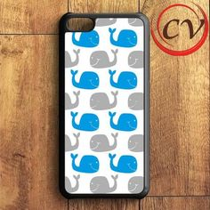 Blue Grey Whale Pattern iPhone 5C Case