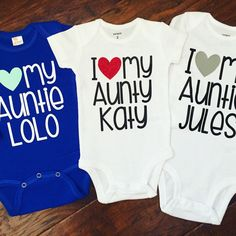Hey, I found this really awesome Etsy listing at https://www.etsy.com/listing/231411002/i-love-my-aunt-baby-bodysuit-i-heart-my