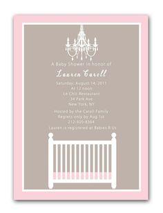 Simply Elegant Baby Girl Shower Invitations
