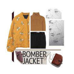 """""""Bomberjacket"""" by babochan ❤ liked on Polyvore featuring Valentino, Dorothee Schumacher, Little Liffner, women's clothing, women, female, woman, misses and juniors"""