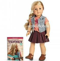 American Girl Tenney Spotlight Outfit NIB Lace Top Boots Starry Headband