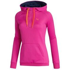 PUMA Lifestyle Hoodie - Women's - Sport Inspired - Clothing - Violet.... Not a huge fan of the violet though