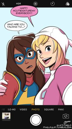 How come we haven't have a Ms Marvel/Gwenpool team up comic? This could be next Deadpool/Spider-man series