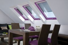 Glamour windows #radiantorchid #interiordesign #pantone2014