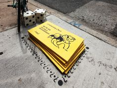 Monopoly street art in Chicago by Bored