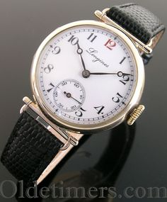 A 9ct gold round vintage Longines watch, 1920s
