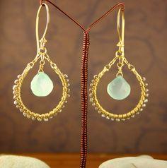 Chalcedony earrings {via bohoMia on Etsy}.