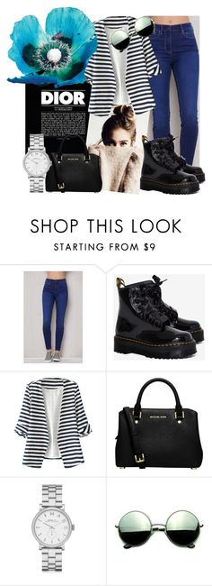 """""""casual"""" by crackets ❤ liked on Polyvore featuring Christian Dior, PacSun, Dr. Martens, WithChic, MICHAEL Michael Kors, Marc by Marc Jacobs and Revo"""
