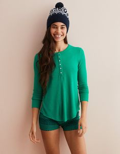 fbbc22a4a648 Aerie Real Soft® Waffle Henley Tee, Emerald Isle. Aerie RealHenley TeeEmerald  IsleMens OutfittersAmerican Eagle ...
