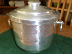 Hammered Aluminum Ice Bucket by shop2cuties on Etsy
