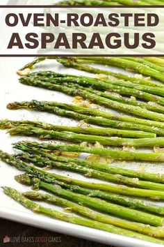 Oven-Roasted Asparagus makes a quick and easy side dish for any meal. We especially enjoy this recipe in the Spring when asparagus is abundant.