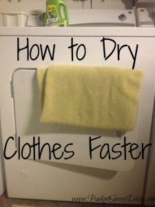 How to Dry Clothes Faster (add a dry towel to a wet load)
