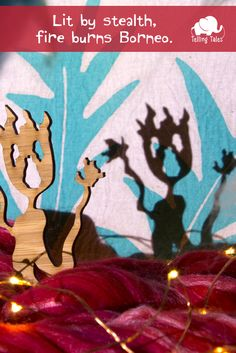 Bringing my rainforest shadow puppets and batik screens to life with improvised stories by the kids and researched anecdotes by me. Borneo Rainforest, Puppet Making, Shadow Play, Shadow Puppets, Bamboo, Fire, Blog, Painting, Outdoor